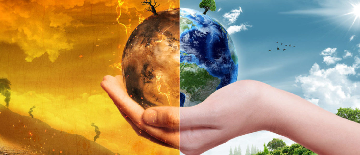 Global Warming and Pollution Concept - Sustainability (Elements of this image furnished by NASA) (Shutterstock/ParabolStudio)
