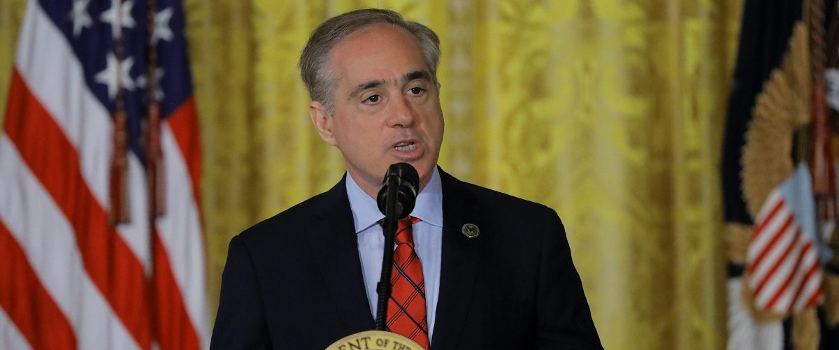 "Veterans Affairs Secretary Shulkin speaks during ""VA Accountability Act"" signing ceremony in the East Room of the White House in Washington"