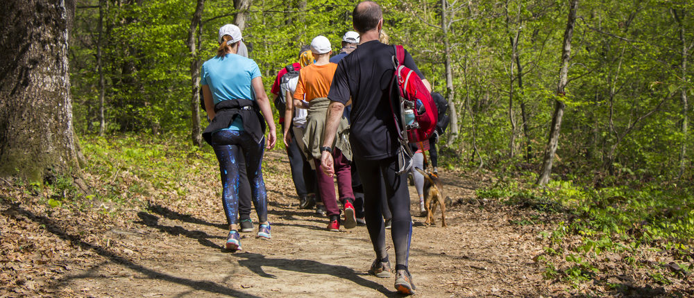 People on a hiking trail (Photo via Shutterstock)