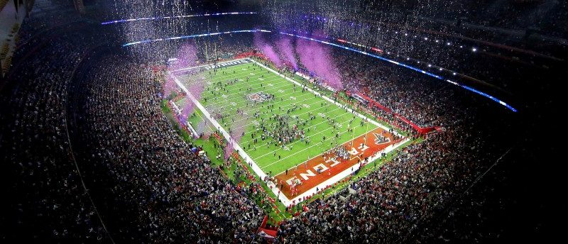 FILE PHOTO: An overall view as the New England Patriots win Super Bowl LI against the Atlanta Falcons at NRG Stadium in Houston, Texas, U.S. on February 5, 2017. Mandatory Credit: USA TODAY Sports via REUTERS/File Photo