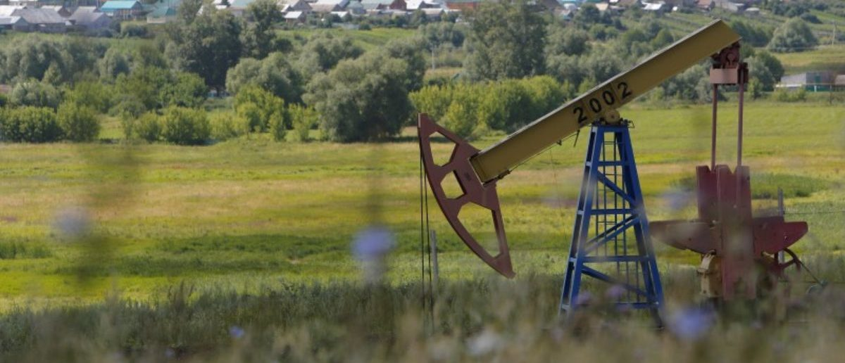 A pump jack is seen at the Ashalchinskoye oil field owned by Russia's oil producer Tatneft near Almetyevsk