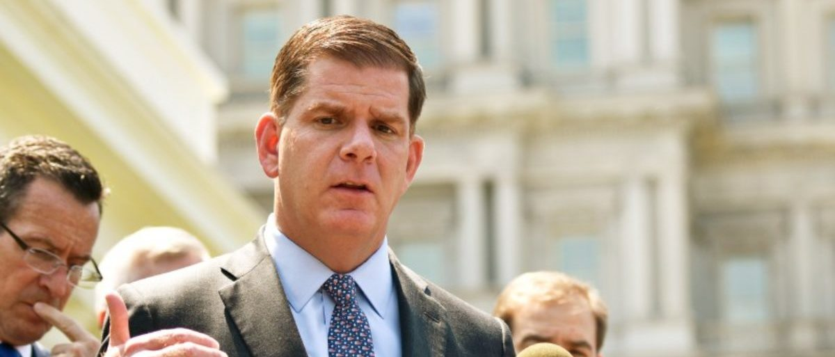 FILE PHOTO: Boston Mayor Marty Walsh speaks after a meeting on gun violence prevention outside the White House in Washington, U.S., May 24, 2016. REUTERS/James Lawler Duggan/File Photo