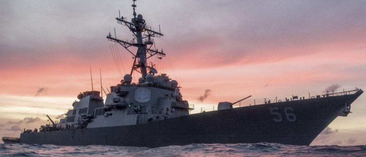 FILE PHOTO: The U.S. Navy destroyer USS John S. McCain conducts a patrol in the South China Sea, January 22, 2017. U.S. Navy/Petty Officer 3rd Class James Vazquez/Handout via REUTERS/File Photo