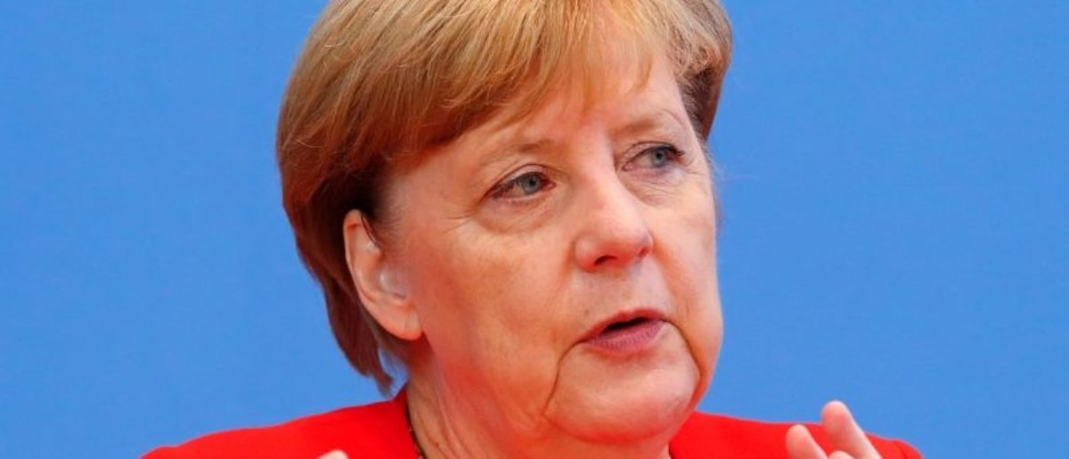 German Chancellor Angela Merkel addresses a news conference in Berlin, Germany August 29, 2017. REUTERS/Fabrizio Bensch