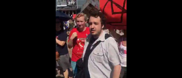 Anti-Fascist Rally LA (Photo: Screenshot/Bill Melugin Facebook Video)