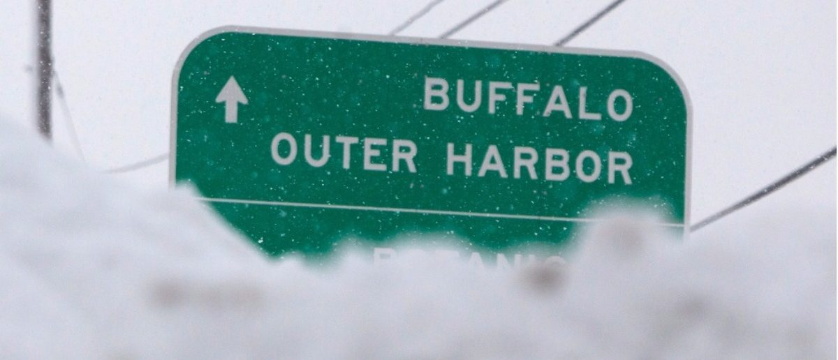 Sign for Buffalo, New York. (REUTERS/Aaron Lynett)
