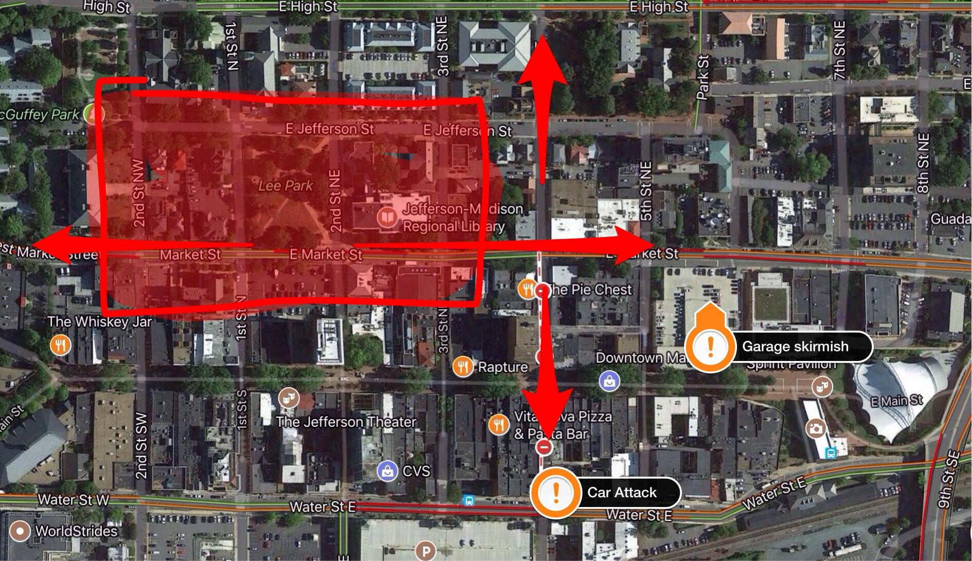 Map of downtown Charlottesville Phillip Stucky