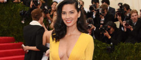 """Actress Olivia Munn attends the """"Charles James: Beyond Fashion"""" Costume Institute Gala at the Metropolitan Museum of Art on May 5, 2014 in New York City. (Photo by Larry Busacca/Getty Images)"""