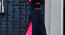 LONDON, ENGLAND - JANUARY 08:  Queen Rania of Jordan departs Number 10 Downing Street on January 8, 2016 in London, England. The Prime Minister held talks with Queen Rania of Jordan today, discussing the need for a comprehensive approach to the Syrian humanitarian crisis and how to implement education and employment for refugees, to enable them to return to Syria and rebuild its economy in the future.  (Photo by Ben Pruchnie/Getty Images)