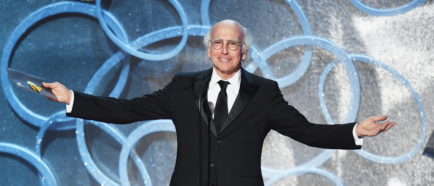 LOS ANGELES, CA - SEPTEMBER 18: Actor/writer Larry David speaks onstage during the 68th Annual Primetime Emmy Awards at Microsoft Theater on September 18, 2016 in Los Angeles, California. (Photo by Kevin Winter/Getty Images)