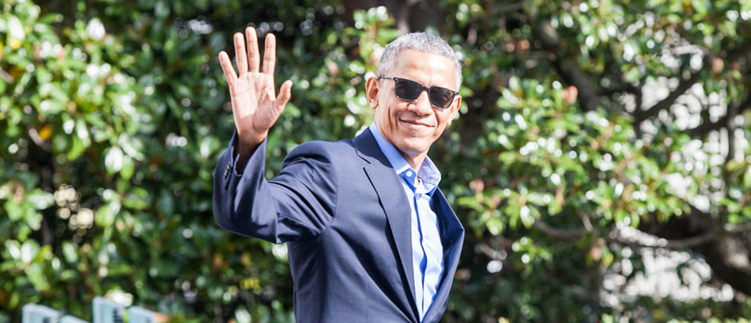 WASHINGTON, DC - NOVEMBER 06: President Barack Obama waves as he exits The White House before boarding Marine One on November 6, 2016 in Washington, DC. President Obama will travel to Orlando to campaign from Democratic Presidential Candidate Hillary Clinton. (Photo by Zach Gibson/Getty Images)