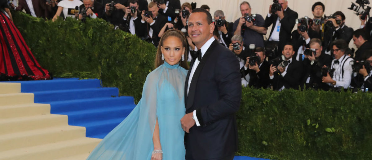 NEW YORK, NY - MAY 01: Jennifer Lopez (L) and Alex Rodriguez attend the 'Rei Kawakubo/Comme des Garcons: Art Of The In-Between' Costume Institute Gala at Metropolitan Museum of Art on May 1, 2017 in New York City. (Photo by Neilson Barnard/Getty Images)