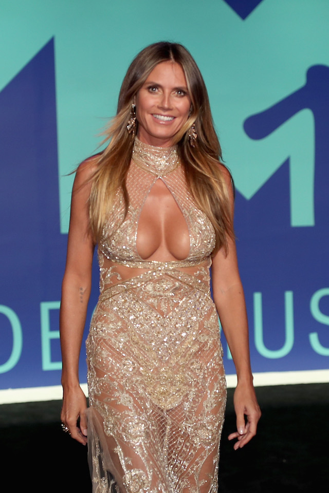 INGLEWOOD, CA - AUGUST 27: Heidi Klum attends the 2017 MTV Video Music Awards at The Forum on August 27, 2017 in Inglewood, California. (Photo by Christopher Polk/Getty Images)