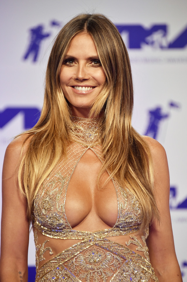 INGLEWOOD, CA - AUGUST 27: Heidi Klum attends the 2017 MTV Video Music Awards at The Forum on August 27, 2017 in Inglewood, California. (Photo by Frazer Harrison/Getty Images)