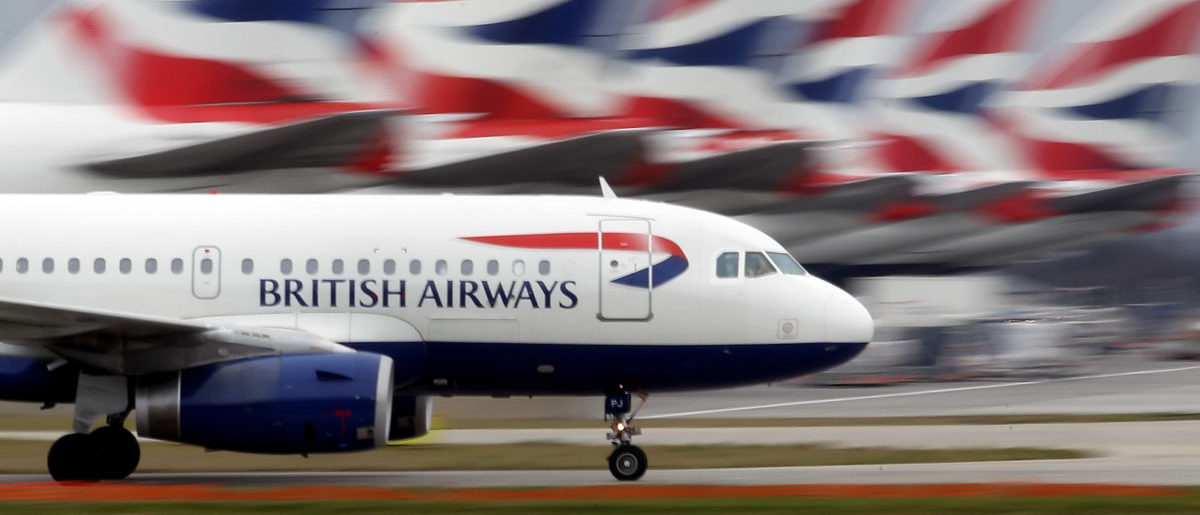 British Airways plane lands at Heathrow Airport. (Dan Kitwood/Getty Images)