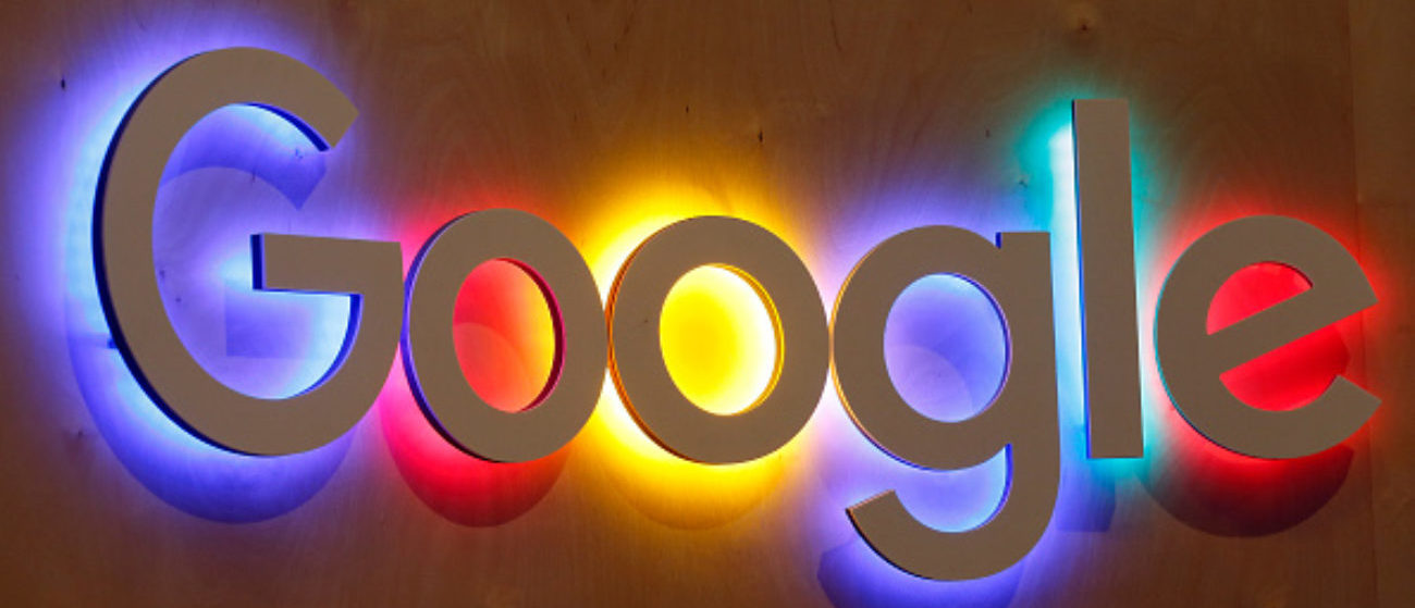 A Google logo is displayed during the Viva Technology show on June 16, 2017 in Paris, France. Viva Technology, the new international event brings together 5,000 startups with top investors, companies to grow businesses and all players in the digital transformation who shape the future of the internet. (Photo by Chesnot/Getty Images)