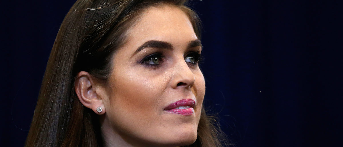 Republican presidential nominee Donald Trump's press secretary Hope Hicks is pictured during a campaign event in Phoenix, Arizona, U.S. October 29 2016. REUTERS/Carlo Allegri
