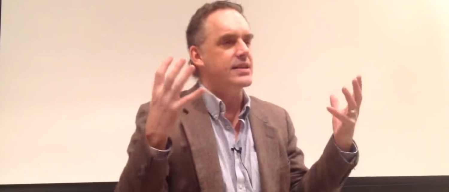 Dr. Jordan B. Peterson speaks about existentialism and authenticity as part of his lecture on personality (Photo Credit: YouTube/M Czerna)