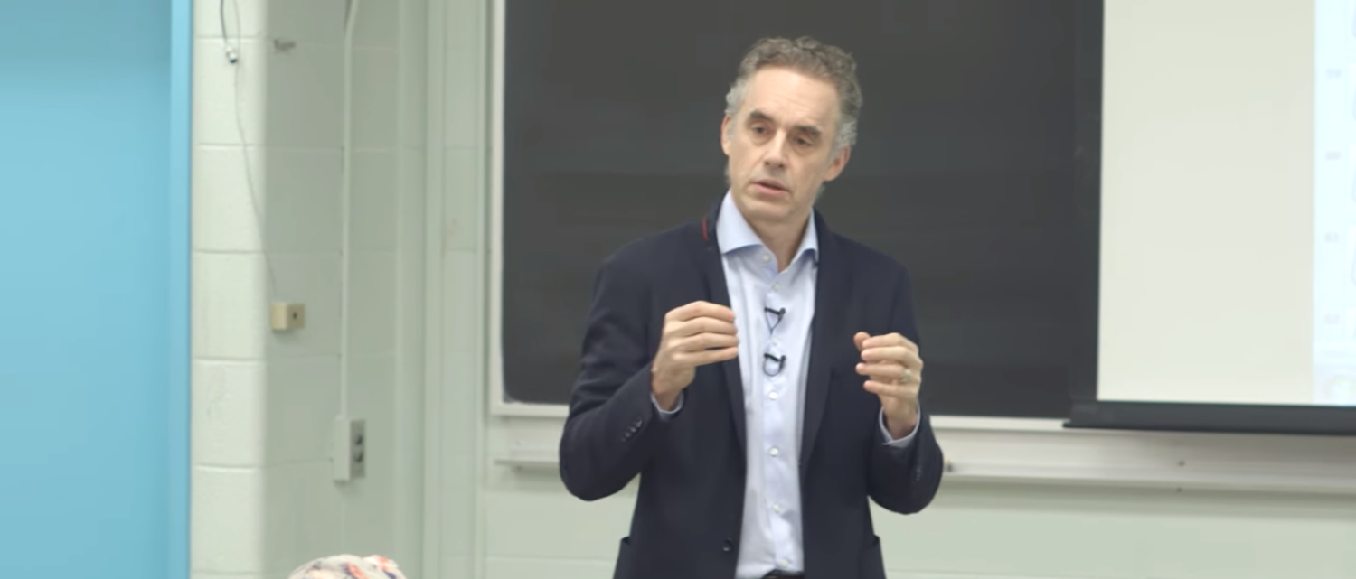 Dr. Jordan B. Peterson discusses the neuropsychology of symbolic representation (Photo Credit: YouTube/Jordan B Peterson)