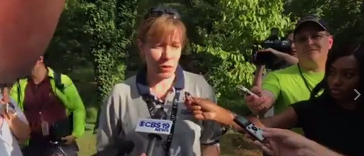 Press Conference with Virginia State Police spokesperson Corinne Geller. The Daily Caller News Foundation.