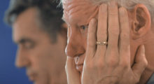 Although it happened after his presidency, Bill Clinton was caught sleeping on camera during multiple speeches: one by his wife and one for a MLK memorial (REUTERS/Stefan Rousseau/Pool)