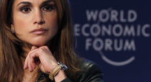 Jordan's Queen Rania attends a session at the World Economic Forum (WEF) in Davos January 30, 2010. Picture taken January 30, 2010.    REUTERS/Christian Hartmann  (SWITZERLAND - Tags: POLITICS BUSINESS HEADSHOT ROYALS) - BM2E6210XV201