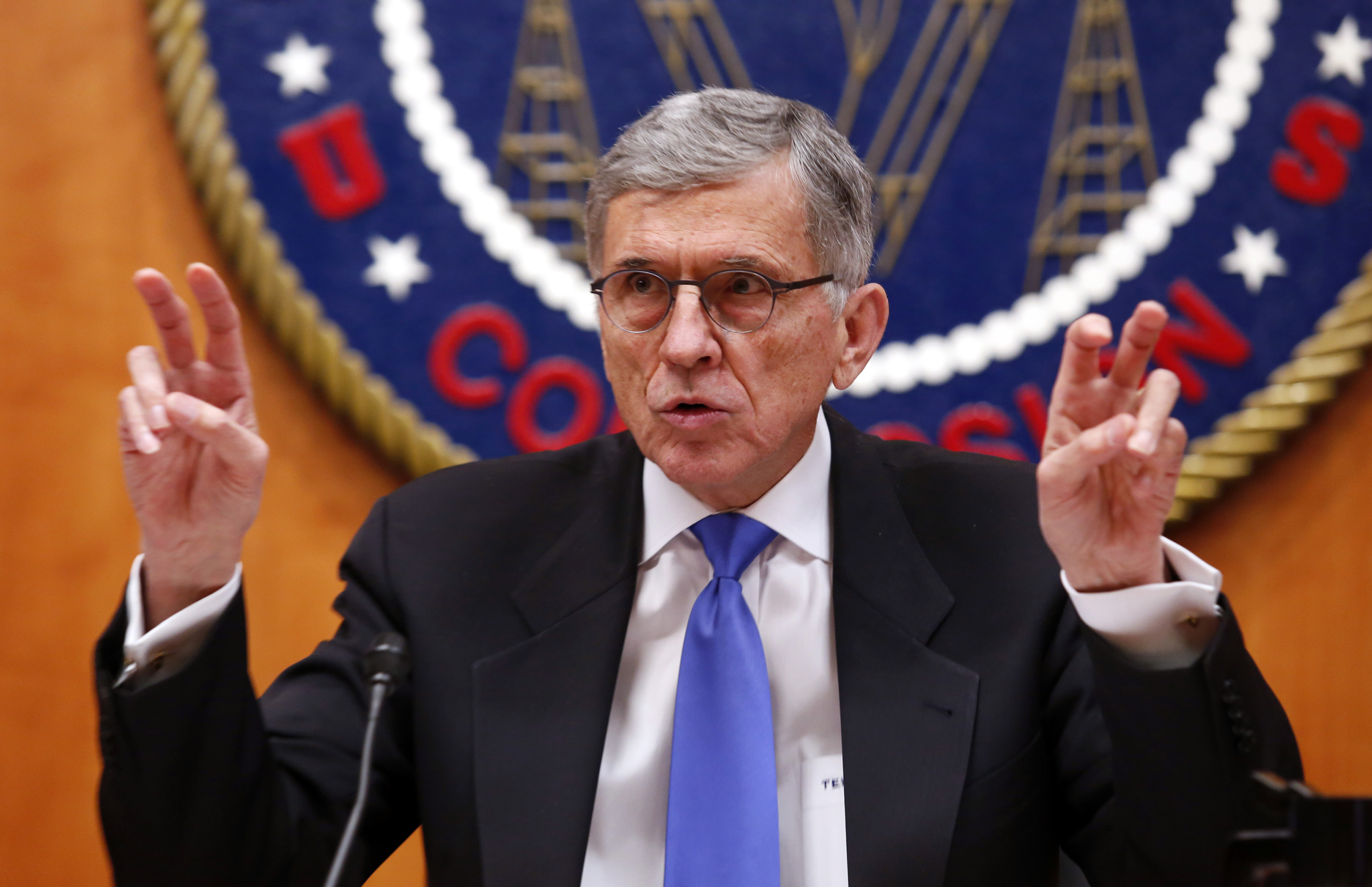 """Federal Communications Commission (FCC) Chairman Tom Wheeler just days before he approves the """"net neutrality"""" rules.[REUTERS/Yuri Gripas]"""
