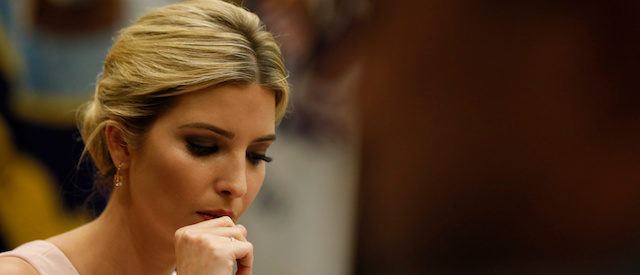 White House senior advisor Ivanka Trump leads a listening session with military spouses at the White House in Washington, U.S. August 2, 2017. REUTERS/Jonathan Ernst - RTS1A5C3