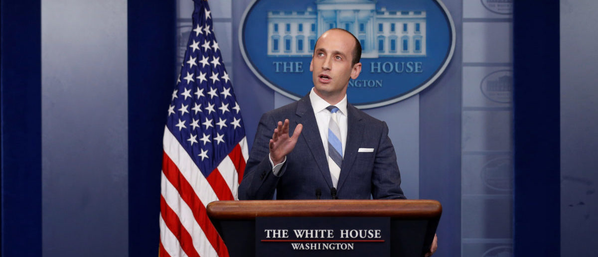 White House senior policy advisor Stephen Miller discusses U.S. immigration policy at the daily press briefing at the White House in Washington, U.S. August 2, 2017. REUTERS/Jonathan Ernst - RTS1A5Q4