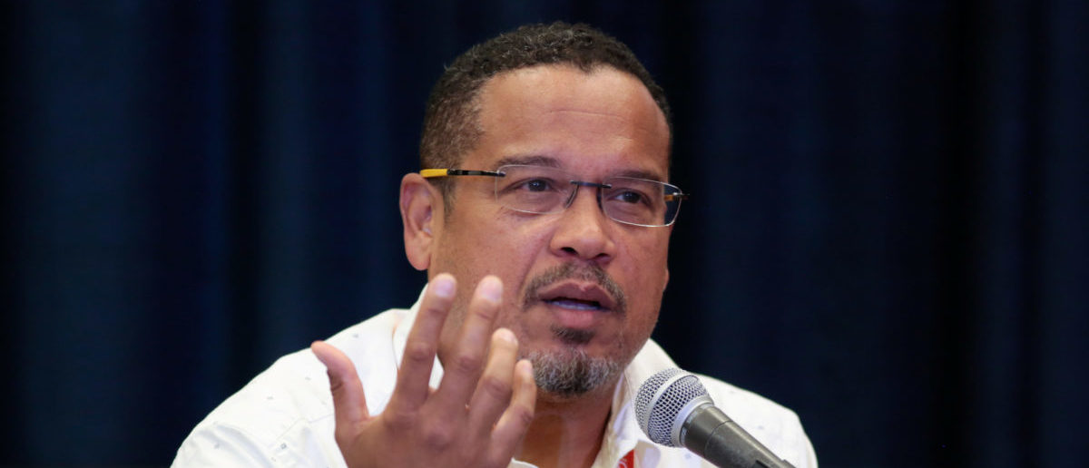 "U.S. Rep. Keith Ellison (D-MN) speaks at breakout session ""From Demonstration to Legislation: How Organizing Will Win Back Progressive Power"" at the Netroots Nation annual conference for political progressives in Atlanta, Georgia, U.S. August 11, 2017. REUTERS/Christopher Aluka Berry"
