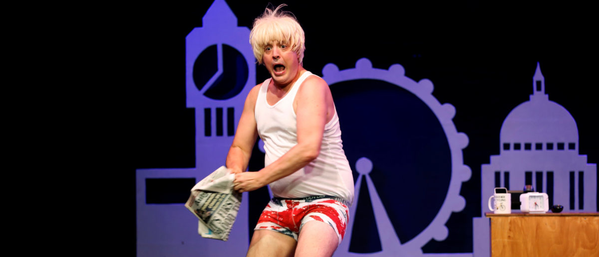 Reuters/ Member of the cast James Witt performs as Boris Johnson in 'Brexit-The Musical' at the Edinburgh Fringe, in Edinburgh, Scotland, Britain August 11, 2017. Picture taken August 11, 2017. REUTERS/Russell Cheyne