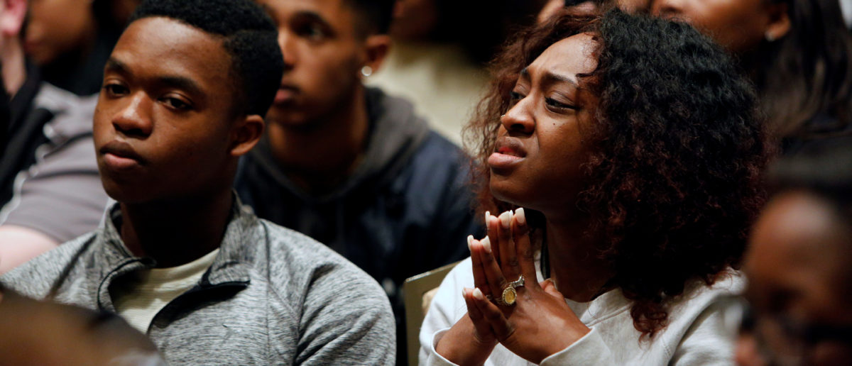 Texas A&M Black Lives Matter supporters listen as white nationalist leader Richard Spencer of the National Policy Institute speaks on campus at an event not sanctioned by the school. (Photo: Reuters)