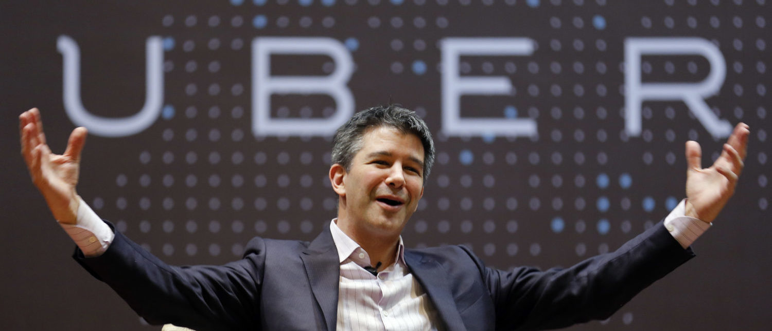 Uber CEO Travis Kalanick speaks to students during an interaction at the Indian Institute of Technology (IIT) campus in Mumbai, India, January 19, 2016. REUTERS/Danish Siddiqui
