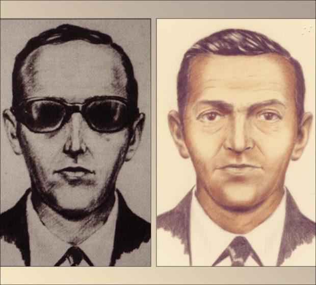 Artist sketches released by the FBI of a man calling himself D.B. Cooper, who vanished in 1971 with $200,000 in stolen cash after hijacking a commercial airliner over Oregon, U.S. FBI/Handout via Reuters THIS IMAGE HAS BEEN SUPPLIED BY A THIRD PARTY. IT IS DISTRIBUTED, EXACTLY AS RECEIVED BY REUTERS, AS A SERVICE TO CLIENTS. FOR EDITORIAL USE ONLY. NOT FOR SALE FOR MARKETING OR ADVERTISING CAMPAIGNS - RTX2OV5F