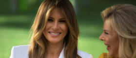 PHOTOS: Melania Stuns In Sundress Boarding Air Force One