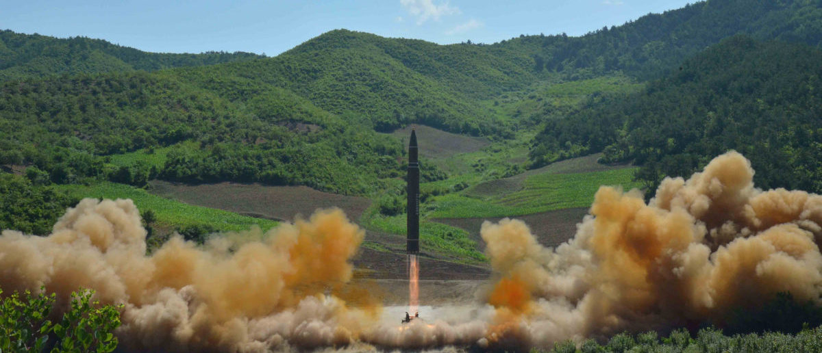 The intercontinental ballistic missile Hwasong-14 is seen during its test launch in this undated photo released by North Korea's Korean Central News Agency (KCNA) in Pyongyang, July, 4 2017. (Photo: KCNA/via REUTERS)