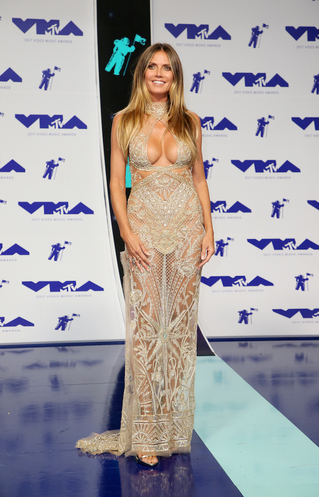 Heidi Klum at the 2017 MTV Video Music Awards (REUTERS/Danny Moloshok)