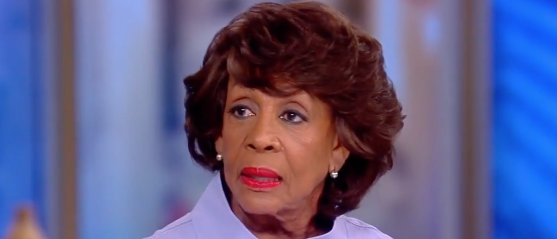 "California Rep. Maxine Waters on ABC's ""The View."" (Youtube screen grab)"
