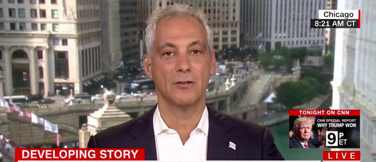 Screen Shot Rahm Emanuel Says Sanctuary Cities Vital To Public Safety (CNN: Aug 7, 2017)