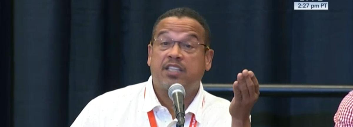 Minnesota Rep. Keith Ellison at Netroots Nation. (CSPAN Screenshot)