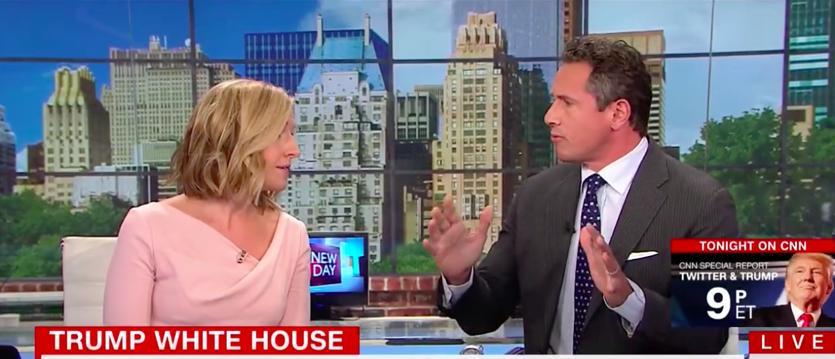 Screen Shot Poppy Harlow and Chris Cuomo (CNN: Aug 18, 2017)