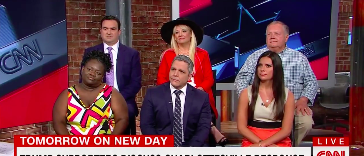 Screen Shot Panel of Trump Supporters (CNN: Aug 22, 2017)