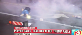 VIDEO: Riot Police Pelt Protester Right In The Crotch With Pepper Ball