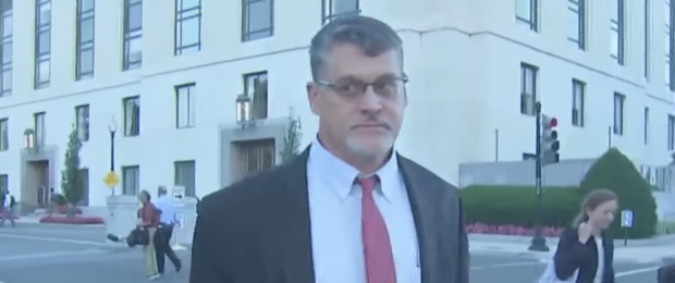 Fusion GPS co-founder Glenn Simpson after Aug. 22, 2017 interview with Senate Judiciary Committee. (Youtube screen grab)