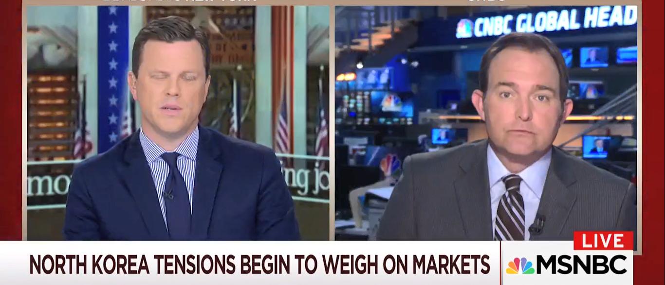 MSNBC NK Stock Market Effects 08-09-17