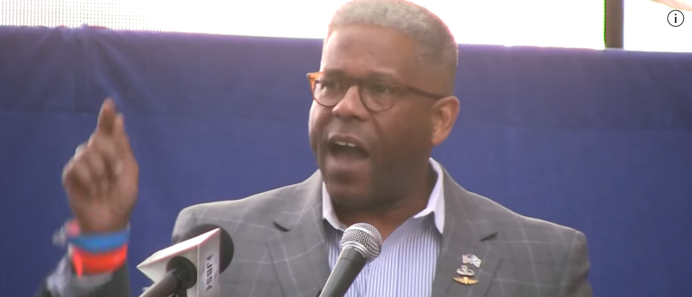 Allen West Speaking At Military Rally (YouTube screen shot)