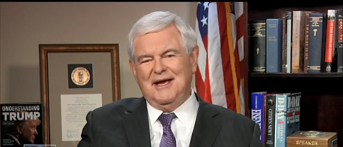 Newt Gingrich Fox and Friends 08-21-17