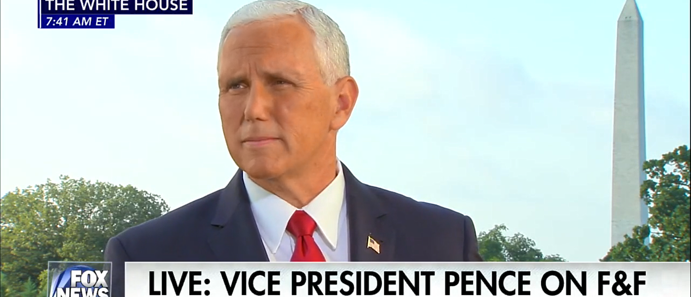 Mike Pence Fox and Friends 08-22-17