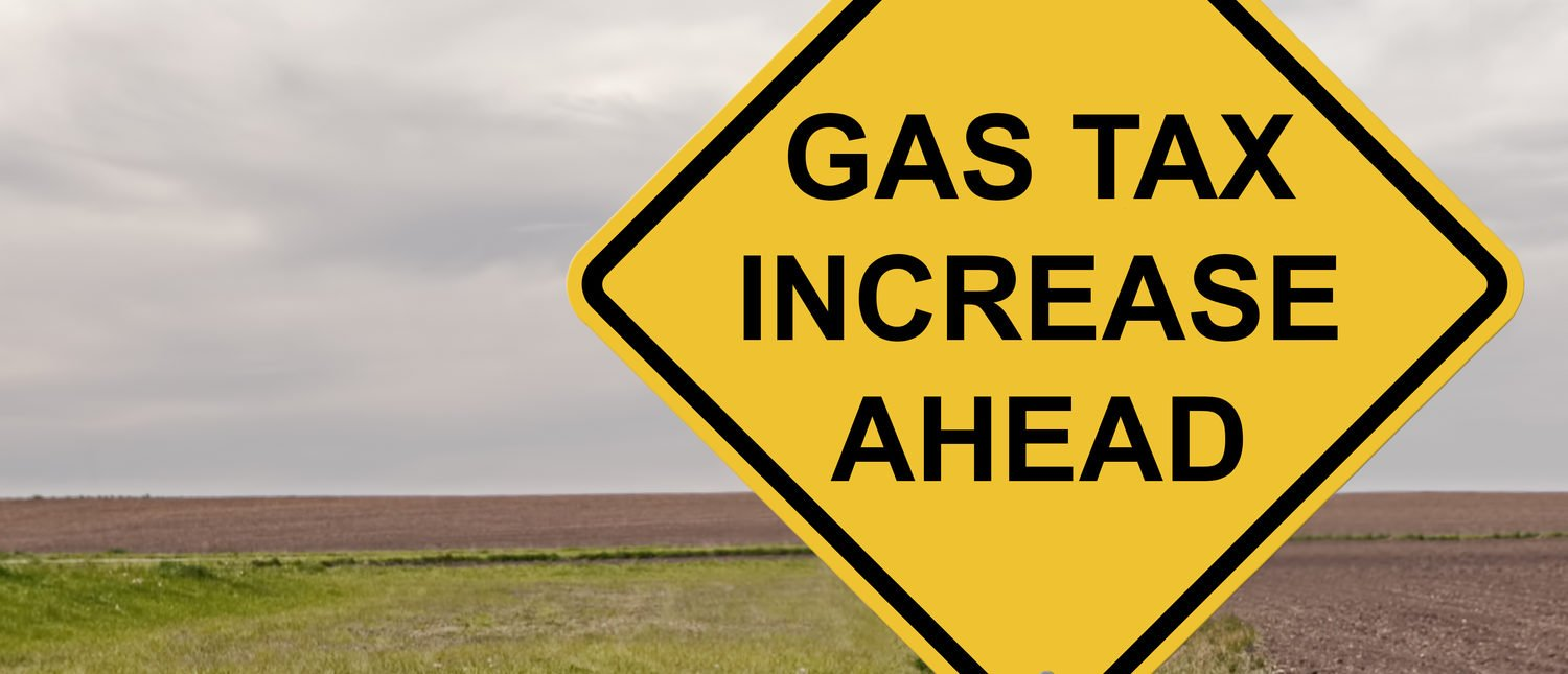 Caution Sign - Gas Tax Increase Ahead (Shutterstock/By Jim Vallee)
