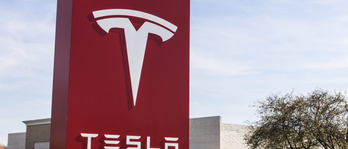 Indianapolis - Circa April 2017: Tesla Service Center. Tesla designs and manufactures the Model S electric sedan IV (Editorial credit: Jonathan Weiss / Shutterstock.com)(Editorial credit: Jonathan Weiss /